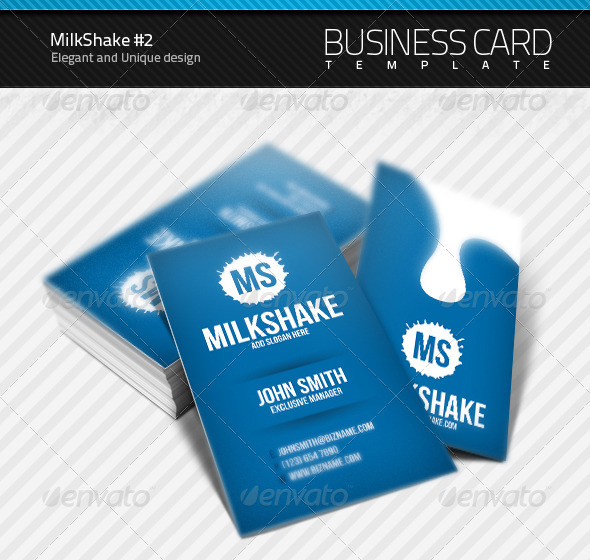 MilkShake Business Card #2 - Creative Business Cards