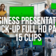 Collection of Business Presentations - Pack of 15 clips in HD with Mock-up Template - VideoHive Item for Sale