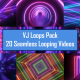 Ultraviolet Futuristic Neon Laser Lights VJ Loop Pack - 20 Loops