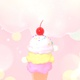Pastel Scoops Of Ice Cream With Cherry - VideoHive Item for Sale