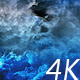 Flying Through Abstract Blue Night Clouds to Big Moon - VideoHive Item for Sale