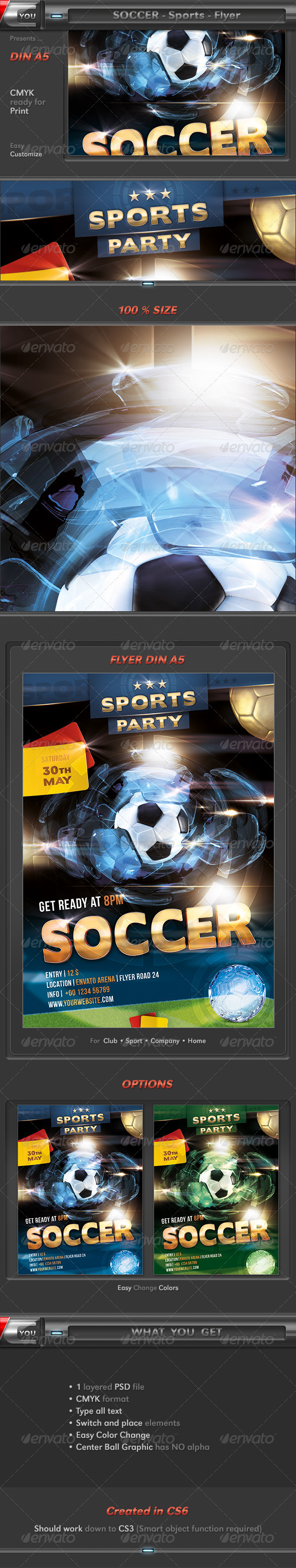 Soccer Sports Event Party Flyer - Sports Events