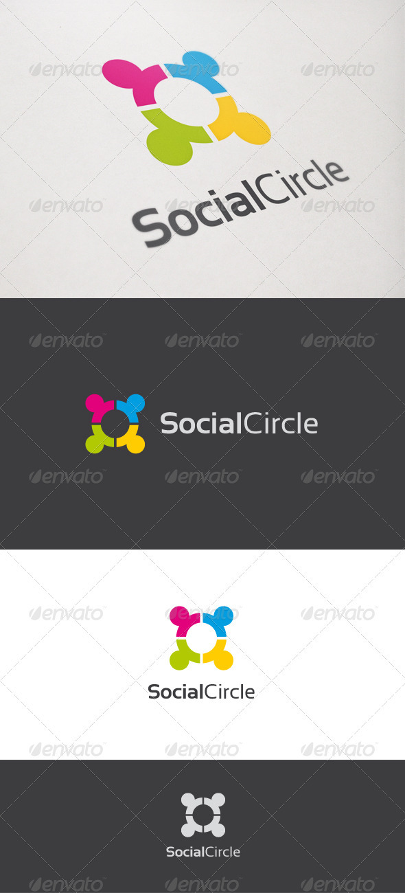 Social Circle - Humans Logo Templates