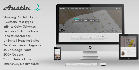 Austin – Multi-Purpose Design Agency WP Theme