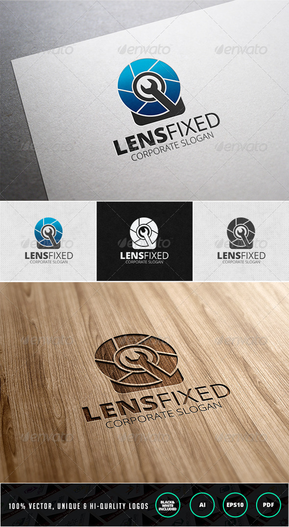 Lens Fixed Logo Template - Objects Logo Templates