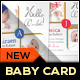 Boy / Girl Baby Announcement Card 03 - GraphicRiver Item for Sale