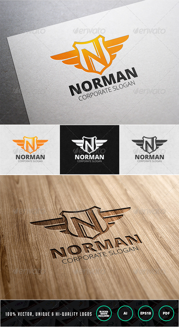 Norman | Letter N Logo Template - Letters Logo Templates