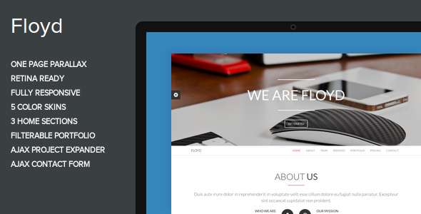 Floyd – One Page Parallax Theme