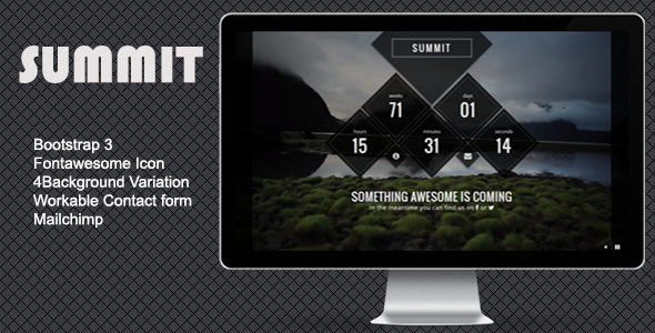 Summit – Creative Comingsoon Template