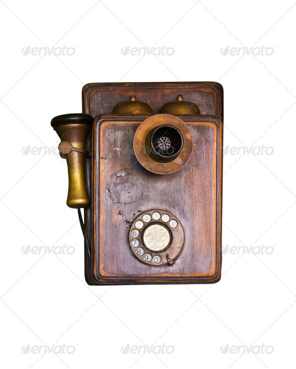 Old telephone - Stock Photo - Images