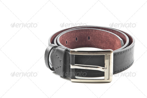 Smart guys use the smart black belt,isolated - Stock Photo - Images