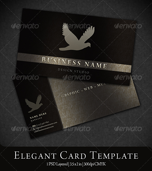 Elegant business card by eamejia graphicriver elegant business card reheart Images