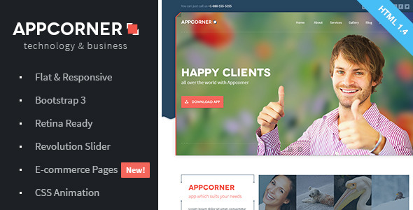 Appcorner – Business & Technology HTML Template