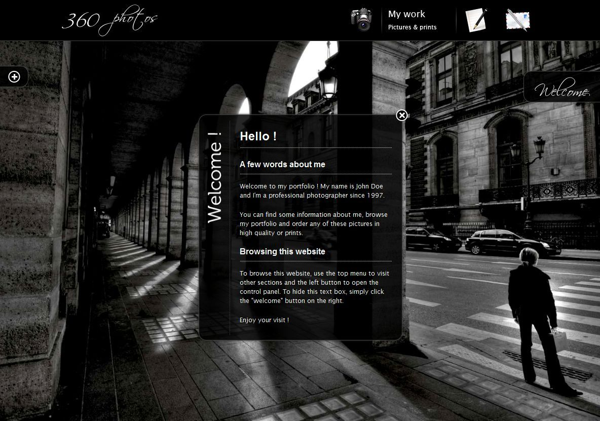 360 Photos Fullscreen Background Portfolio By