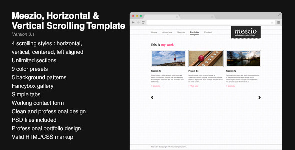 Free Download Meezio, Horizontal & Vertical Scrolling Template Nulled Latest Version