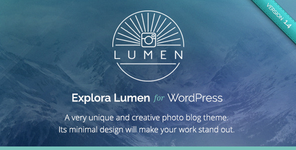 Lumen – Responsive Photography WordPress Theme