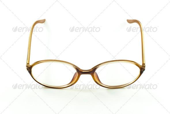 nerd eye glasses, isolated - Stock Photo - Images