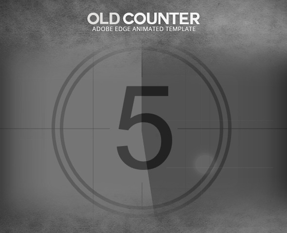 Edge Animate Old Film Counter Template - CodeCanyon Item for Sale