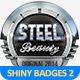 Metal Badges Template Pack Vol 2 - GraphicRiver Item for Sale
