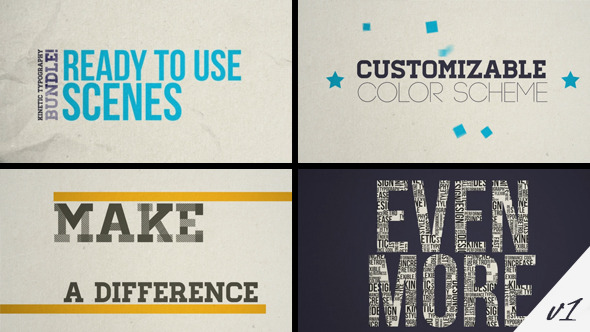 Kinetic Typography Pack by kiwiplay | VideoHive