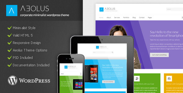 Aeolus – Corporate Minimalist WordPress Theme
