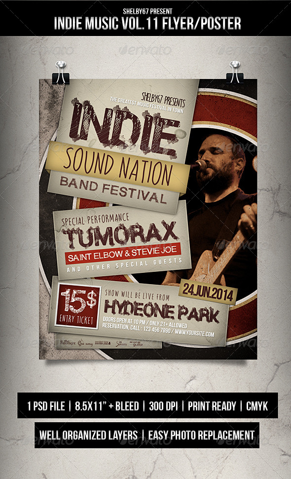 Indie Music Flyer / Poster Vol.11 - Events Flyers