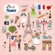 Paris  France Landmarks and Icons - GraphicRiver Item for Sale