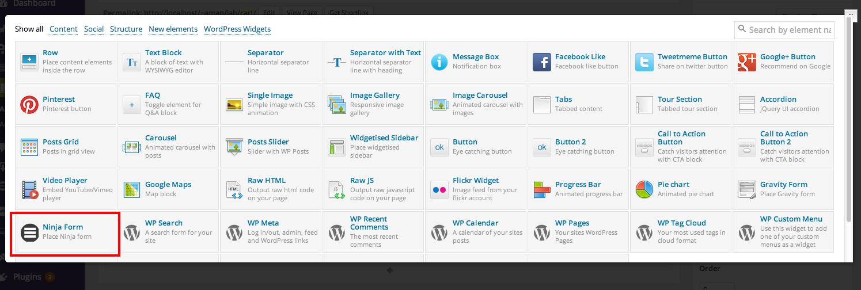Visual Composer Ninja Forms Addon by webholics   CodeCanyon