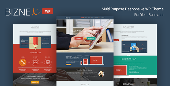 BizNex | Multi-Purpose Parallax WordPress Theme - Corporate WordPress