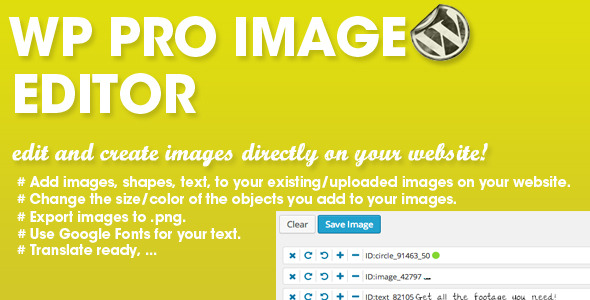 WP PRO Image Editor - CodeCanyon Item for Sale