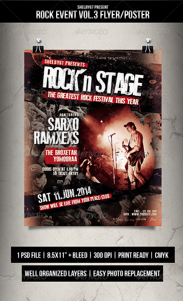 Rock Event Flyer / Poster Vol.3 - Events Flyers