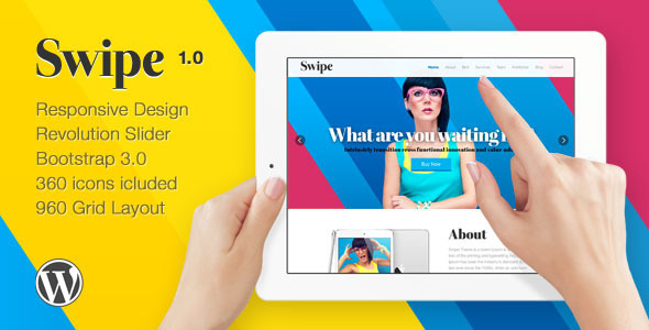 Swipe Responsive One Page Theme - Creative WordPress
