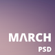 March | One Page Multipurpose PSD Template Nulled