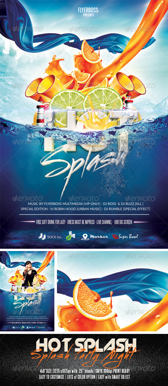 Hot Splash Flyer - Events Flyers