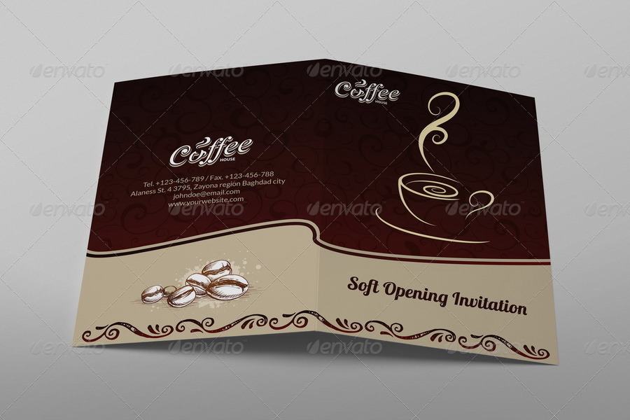 cafe soft opening invitation card vol 3 by owpictures