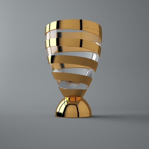 French League 1 Cup Trophy 3d Model By Bhatem 3docean