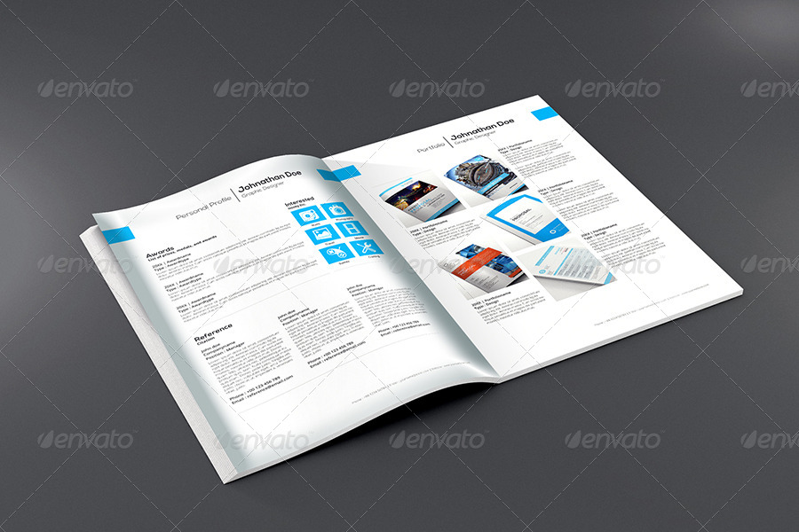 gstudio clean resume template - Envato Resume Templates