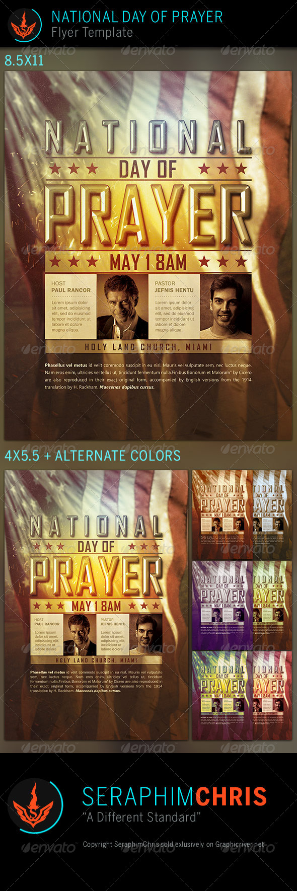 National Day of Prayer: Church Flyer Template - Church Flyers