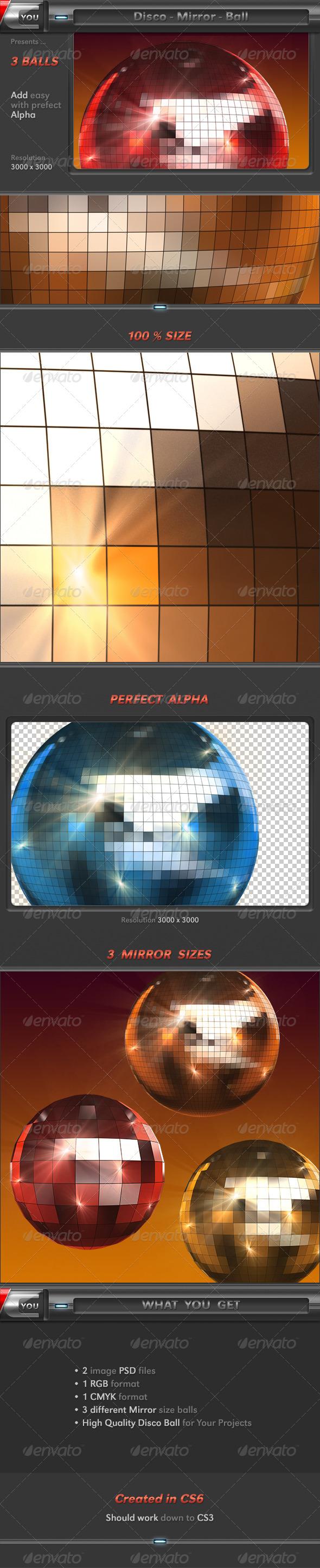3D Disco Mirror Ball - Objects 3D Renders