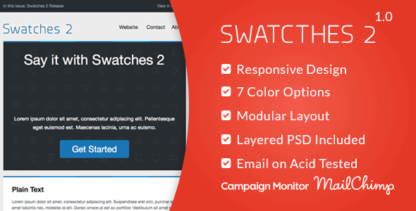 Swatches 2 – Responsive Email Template
