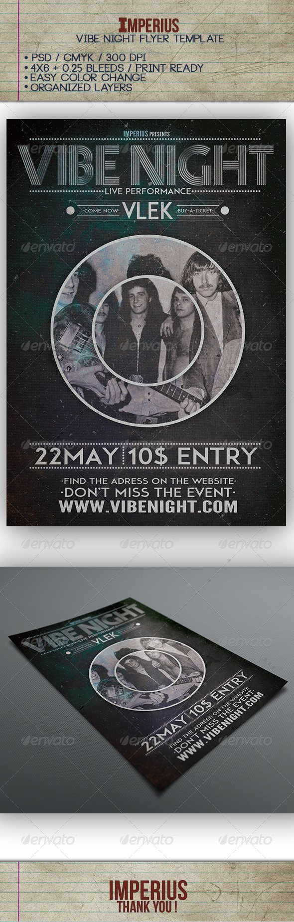 Vibe Night Flyer - Events Flyers