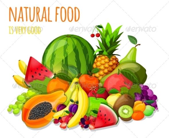 Fruits Set Still Life