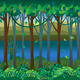 Forest by Riverside 2D Background - GraphicRiver Item for Sale