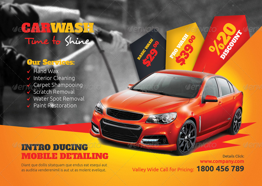 Car Wash Flyer Templates Corporate Flyers 01 Preview Jpg