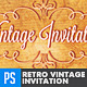 Retro Vintage Invitation Template