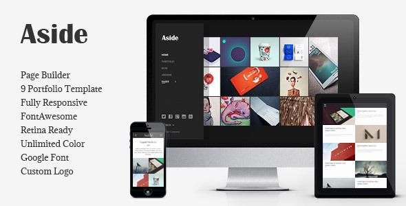 Aside - Photo Portfolio Sidebar WordPress Theme - Portfolio Creative