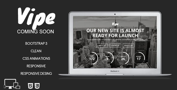 Vipe - Coming Soon Template