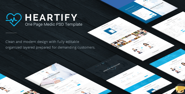 Heartify - Medic PSD Templates