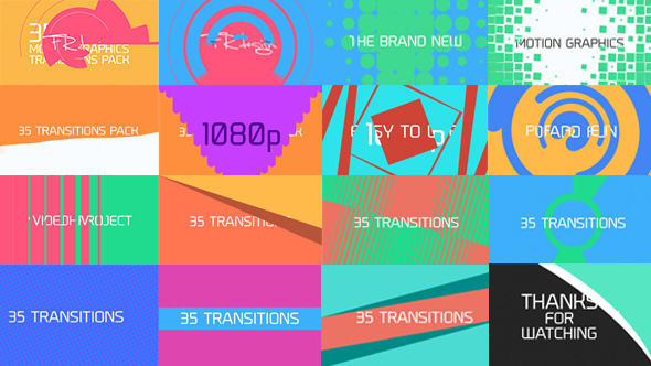 35 cool motion graphics transitions by pixfield videohive for Cool motion graphics