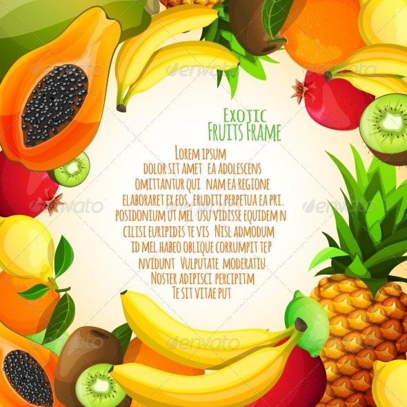 Exotic Fruits Frame